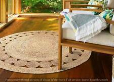 Handmade Rug Multiple Sizes Braided Natural Jute Area Rug Home Decor Carpet