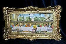 Cuadro última Cena Jesucristo 97x57 Santo Imágenes Leonardo Da Vinci 3074