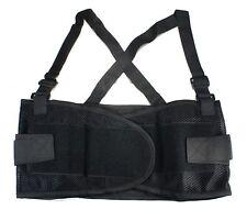 Heavy Duty Weight Lift Lumbar Lower Back Waist Support Belt Brace Suspender Work