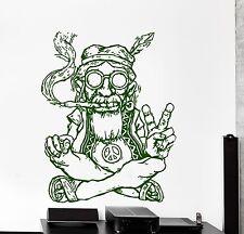 Wall Vinyl Decal Punk Hippie Weed Smoking Regae Cool Decor z3849
