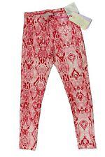 Leggings lungo da bambina rosa bianco Deha casual sport moda cotone fantasia
