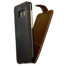 Premium Leder Smartphone Cover für Samsung Apple und Huawei  Schutzhülle Handy
