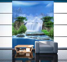3D cascata 08 Parete Murale Foto Carta da parati immagine sfondo muro stampa