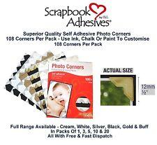 Colour Photo Corners Sticky Self Adhesive Album Scrapbook Frame 108 Acid Free 3L