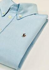 Ralph Lauren Aqua Blue Ladies Custom Fit Oxford Shirt