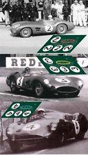 Calcas Aston Martin DBR1 Le Mans 1958 1:32 1:24 1:43 1:18 slot decals