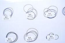 1x O Ring Armbanduhren deckel dichtung Schnurstärke 0.3 mm wasserdicht ring