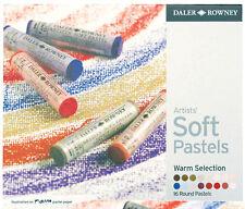 Daler Rowney Soft Chalk Pastel Set - 16 Warm Shades