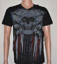 Helix #6059 NEW Men's 100% Cotton Skull Print Short Sleeve Graphic T-Shirt
