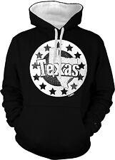 Texas Stars Map Lone Star State Pride Tejas Texan Tejano 2-tone Hoodie Pullover