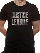 Justice League Logo Batman DC Comics Movie Black Mens T-shirt