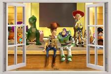 Toy Story Woody Buzz Lightyear 3D Window Decal Wall Sticker Art Mural H936