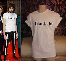 BLACK TIE KASABIAN MENS / WOMENS WHITE T-SHIRT