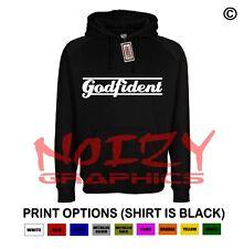 Godfident Christian Hoodie Black Sweatshirt Jesus Religious Worship Rock Hip Hop