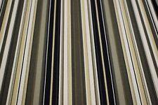 "Canvas Duck Black Striped Print Fabric Upholstery Drapery 100% Cotton 62""W U37"