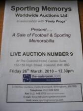 26/03/2010 Auction Catalogue: Sporting Memorys - Footba