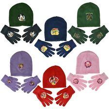 New Boys & Girls Original Disney Cartoon Hat & Glove Set For Winter Accessories