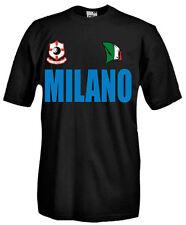 T-Shirt girocollo manica corta Supporters T50 Tifosi Milano calcio football fans