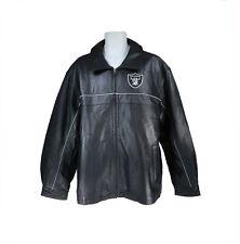 Reebok Men Oakland Raiders Leather Jacket Team Apparel On Field 2003 Season