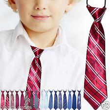 CRAVATTA BAMBINO cravattino rosso righe 2/16 anni ENTRA TANTI COLORI art D0481