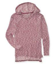 Aeropostale Womens Marled Knit Hooded Sweater
