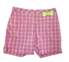 Lady Hagen Refresh Leeds Plaid Golf Shorts Sharp Green NWT Size 2, 6, 8 or 10