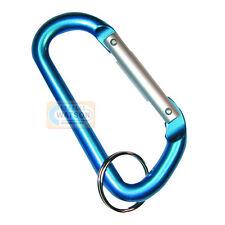 80mm KARABINER Keyring D-Ring Clip Snap Hook Loop Clasp Camping Fishing