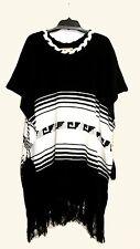 Wildfox Couture Womens Fashion Coachella Frida Fringe Poncho Sweater Cape Top