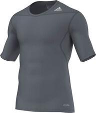 adidas Techfit grau, Laufshirt, Trainingsshirt, Sportshirt Gr.XS-XXL