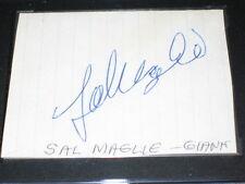 SAL MAGLIE YANKEES LEGEND SIGNED AUTOGRAPHED CUT PAPER JSA COA SGC SLABBED