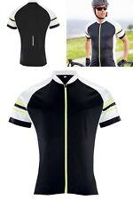 Hi Vis Running Cycling Shirt Men's Short Sleeved Full Front Zip Cycle Jersey