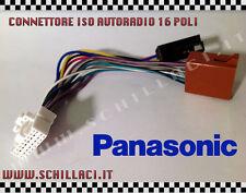 Connettore adattatore ISO autoradio PANASONIC 16 contatti installazione stereo