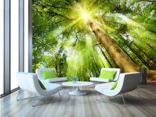 3D Forest Tall Trees 3916 Wallpaper Decal Dercor Home Kids Nursery Mural Home