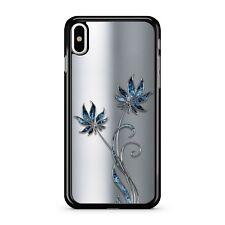 Spazio Blu Floreale Fiori Stampati favoloso in alluminio metallo 2D TELEPHONO CASE COVER