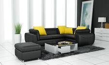 Leder Sofa Couch Eck Polster Garnitur XXL Wohnlandschaft Couchen Sofas  F3014C