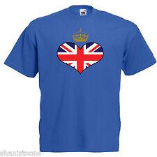 Royal Crown Union Jack Heart Flag Children's Kids Childs Royal Wedding T Shirt