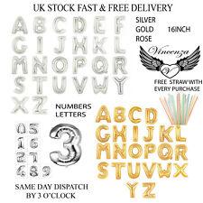 aluminium Ballons 40.6cm A - Z Grande Lettre en Or & ARGENT alphabet complet