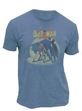 Batman & Robin In The Spotlight Slate Blue Mens T-shirt