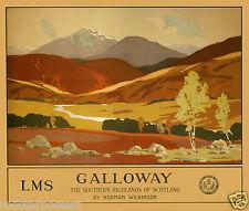450 Vintage Railway Art  - Galloway Scotland