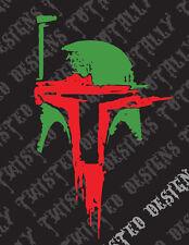 Star Wars Boba Fett Helmet abstract car truck vinyl decal sticker mandalorian