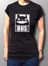 Totoro Cat Bus Anime Ghibli Tribute T-Shirt Womens Black