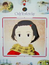 Only Yesterday Omoide Poro Poro Poster Ghibli Miyazaki Original 20 X 29