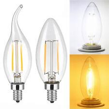 5pcs 2W 4W 6W LED COB Candelabra Bulb E12 Candle Light Lamp Bullet Flame Bulb