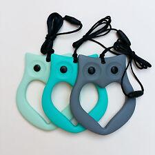 Owl Silicone Teething Necklace Pendant Jewellery for Mum & Baby Nursing BPA Free