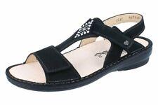Finn Comfort Calvia sandalo da donna nero/nabuk merce nuova!