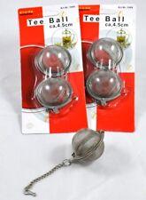 1 oder 3 Teebälle 4,5cm Teeei Teeball Tee-Ei Teesieb Teefilter Teekugel
