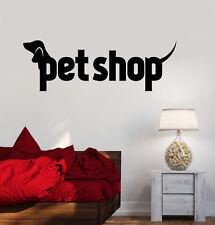 Vinyl Wall Decal Pet Shop Animal Dog Cat Bird Stickers Mural (ig3246)