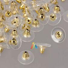 Boucle d'oreille Arrière Bouchon Soft plaqué or avec plastique Pads de rechange Constatations