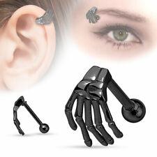 Piercing Arcade Cartilage Oreille En Acier Inoxydable Tête de Mort Gothique
