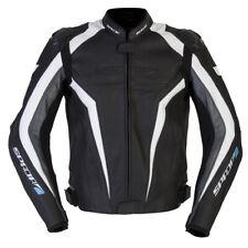 SPADA CORSA GP BLACK WHITE LEATHER MOTORCYCLE SPORTS JACKET RRP £239.99